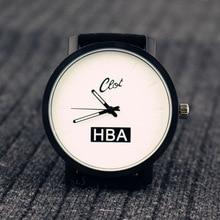 Nueva HBA Hombres Piloto Aviador Militar Estilo Reloj de la Marca de Lujo Dial Banda de Tela Casuales de Negocios Deporte Cuarzo de Los Hombres Reloj Militar OP001