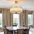 Современные Люстры  потолочная лампа для гостиной  медный современный диам. 50 см  подвесные светильники