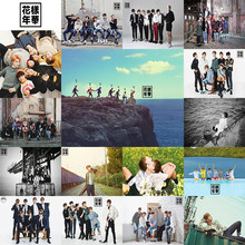 BTS White Posters Clear Image Wall Stickers Home Decoration High Quality Prints RM Jimin Jin HOME ART 42*30cm Without frame(China)