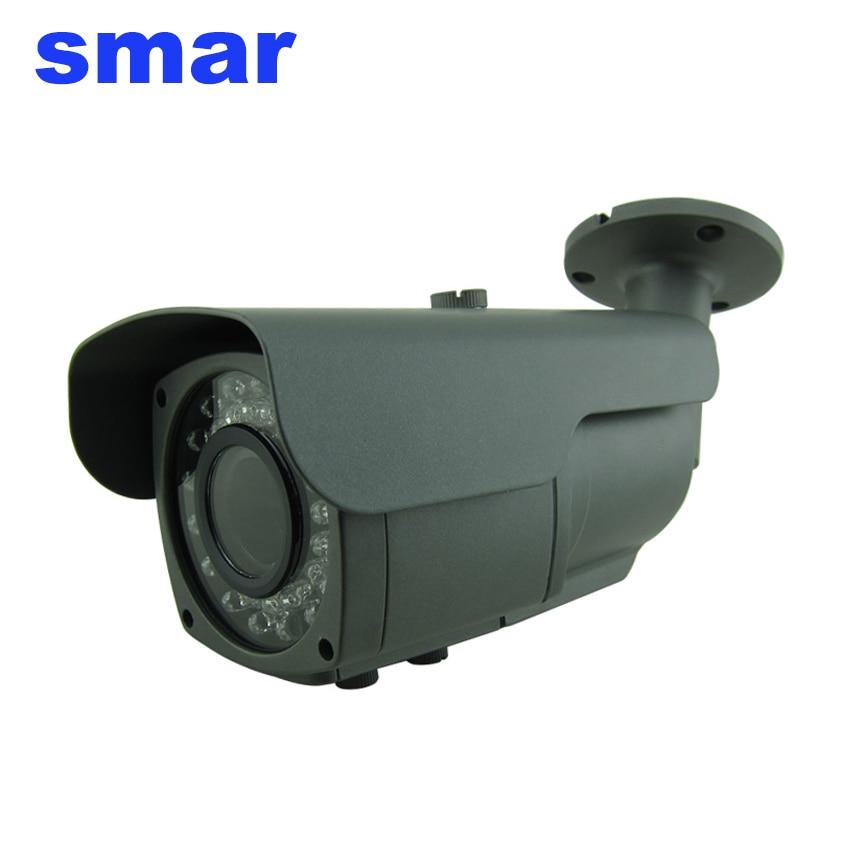 ФОТО 720P 960P 1080P HD IP Camera With 2.8-12mm 2 Megapixel Manual Zoom Lens ONVIF 2.3 Bullet Network Camera 36 IR LEDS XMEYE P2P