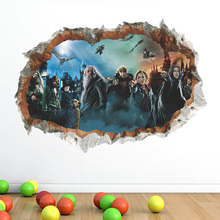 Harry potter background World of potter 3D Wall stickers Harry potter wall decals