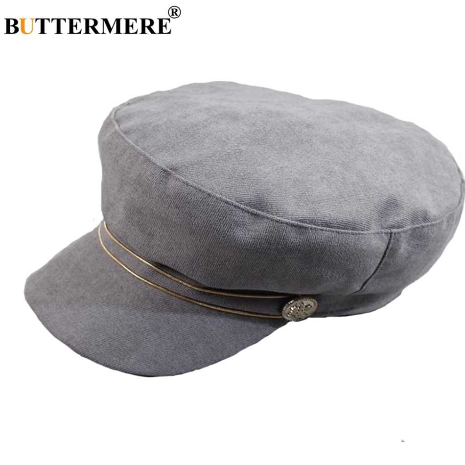 ... BUTTERMERE Black Newsboy Caps Women Cotton Octagonal Hat Ladies Elegant  Painter Hats Casual Female Summer Baker ... eac00d286c9