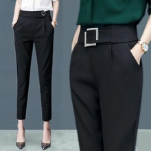MISSMEOW  harem pants summer womens women high waist casual office Trousers Slim Stretch trousers