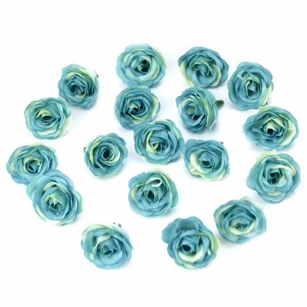 10 pçs 2.5cm mini seda artificial rosa flores pano para festa de casamento decoração do quarto casa diy acessórios vestido falso flores