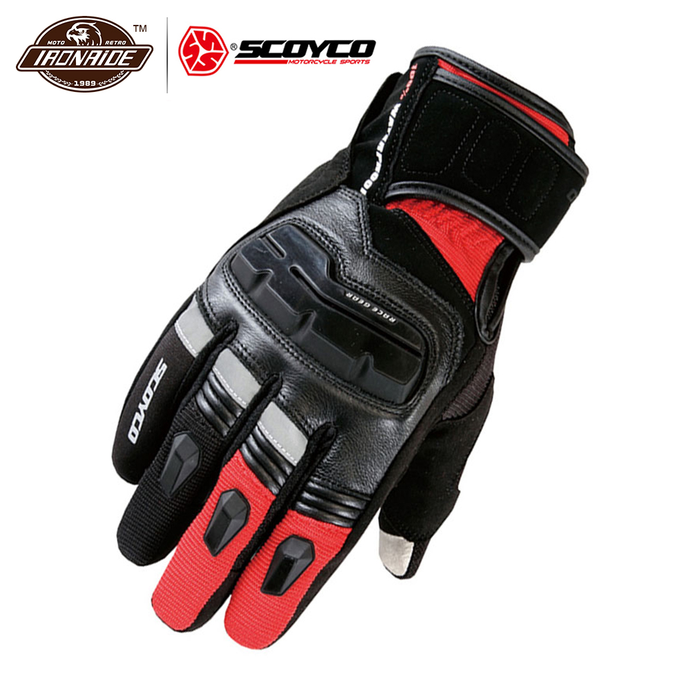 SCOYCO Mens Genuine Cow Leather Motorcycle Gloves Touch Screen Waterproof Windproof Warm Winter Motorbike Racing Riding GlovesSCOYCO Mens Genuine Cow Leather Motorcycle Gloves Touch Screen Waterproof Windproof Warm Winter Motorbike Racing Riding Gloves