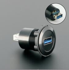 22mm durchmesser montage metall USB3.0 Weibliche änderung Weibliche EINE (Schwarz oder silber oberfläche)