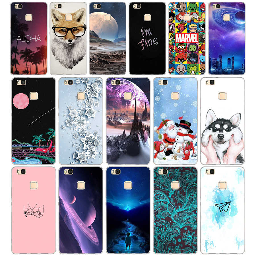 U For Cover Huawei P9 Lite Case Cute Animal Silicon Soft TPU for Funda Huawei P9 Lite Case 2016 P9 P9Lite Phone Back Cases