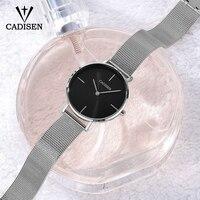 CADISEN Brand Fashion Women Watches Stainless Steel Bracelet Wristwatches Ladies Dress Clock Casual Quartz Watch Montre Femme Women Quartz Watches