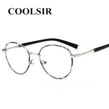 b522db2e7a8c6 Óculos de Armação Retro Marca Computador Óculos de Aro Completo Óculos De  Armação De Metal Do Vintage Óculos Redondos Unisex NEN.