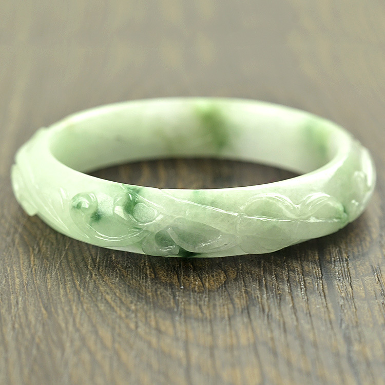 natural ice jewelry glass bangle oval item emerald bangles royal bracelet free shipping on jade in accessories from genuine