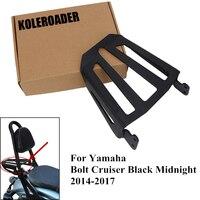 Black Steel Motorcycle Sport Sissy Bar Backrest Rear Luggage Rack for Yamaha Star Bolt XVS950 XV950 XVS XV 950 2014 2017 MBJ126