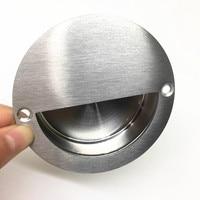 10pcs Hidden Drawer Handles Embedded Cabinet Door Knobs Cupboard Dresser Home Pull Kitchen Furniture Handle Silver