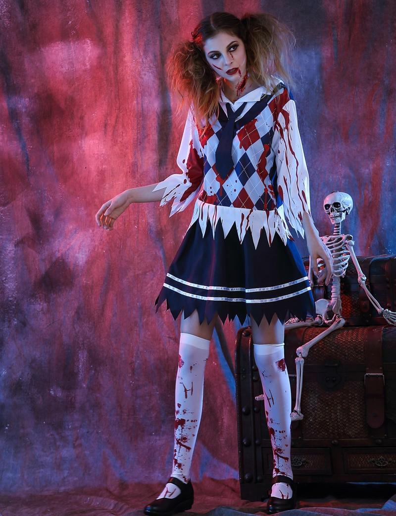 Moonight scary colegiala traje de Halloween adulto Cosplay Halloween mujeres  Disfraces de miedo a45b5c05dcfc