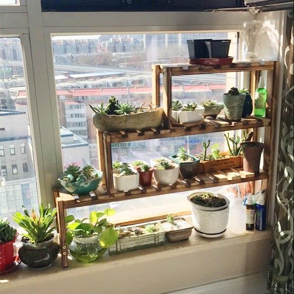 Plant Shelves Windowsill Flower Rack