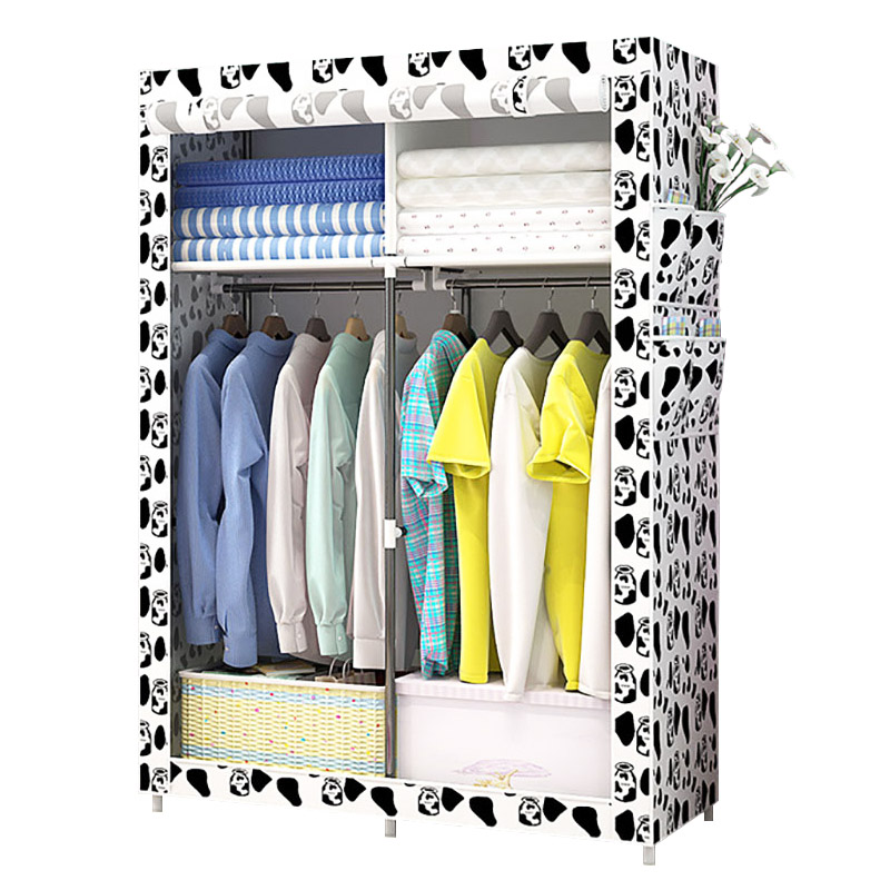 Portable Assembly Wardrobe Clothes Storage Organizer Closet Non-woven Fabric Craft Dustproof Space Saving JC029Portable Assembly Wardrobe Clothes Storage Organizer Closet Non-woven Fabric Craft Dustproof Space Saving JC029