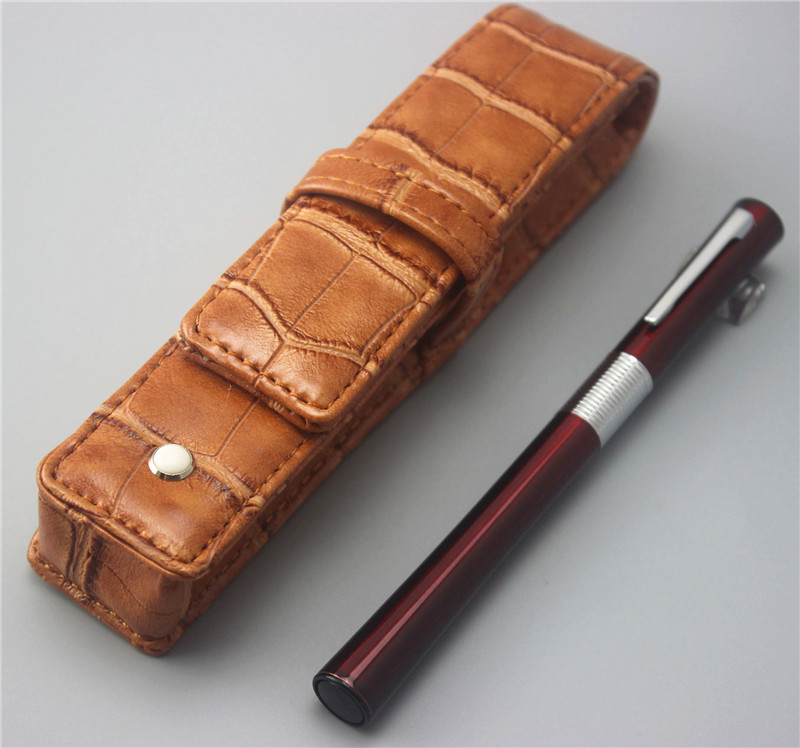 red JINHAO ballpoint Pen and pen bag School Office Stationery brand roller ball pens men women business gift send a refill 002 jinhao fountain pen unique design high quality dragon pens luxury business gift school office supplies send father friend 002