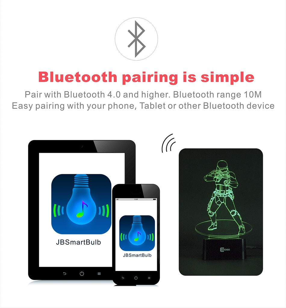 CNHIDEE USB Novelty Star Wars Bluetooth Music Desk Lampara 3D Stormtrooper Bulbing Led Luz de Noche Engraving Night Light Decor as Creative Gifs  (5)