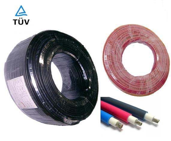 High Quality 6mm10AWG 10m Roll Solar Power Cable Panel Electric Copper Wire Photovoltaic Cables TUV Or UL Approved In From Home