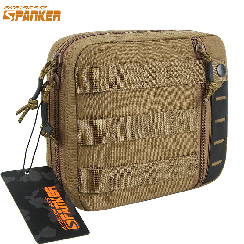 EXCELLENT ELITE SPANKER Outdoor Tactical Nylon EDC Pouch Military Army Molle Multi-Purpose Tools Bag Hunting Waist Zipper Bags airsoft tactical bag 600d nylon edc bag military molle small utility pouch waterproof magazine outdoor hunting bags waist bag