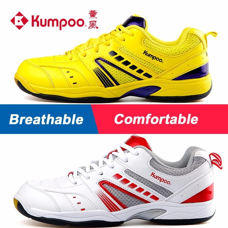 Kumpoo Badminton Shoes Antiskid Breathable Super Light Cushioning Sports Sneaker for Male and Female KH-19 L791OLB professional kumpoo unisex shoes badminton light cushioning comfortable sports sneakers for men and women breathable kh 205 l799
