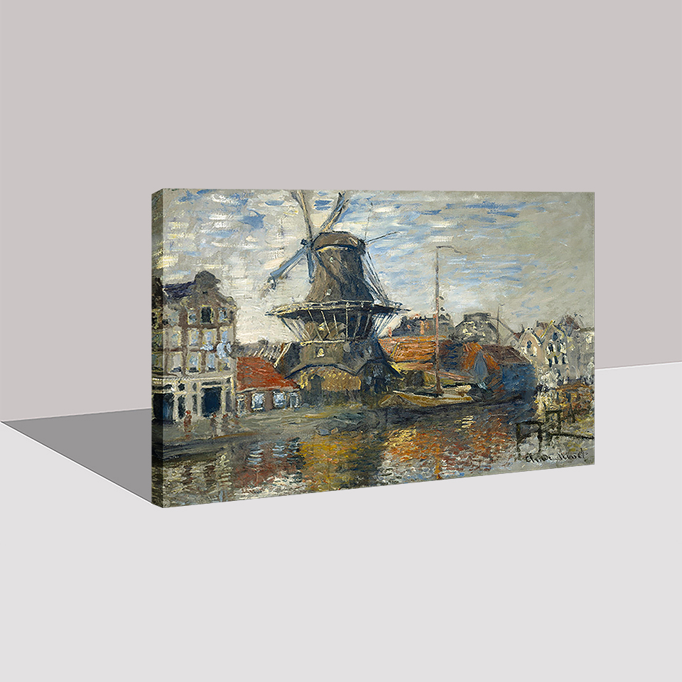 Lukisan Kanvas Dinding Seni Kerangka 1 Piece Kincir Angin Gambar