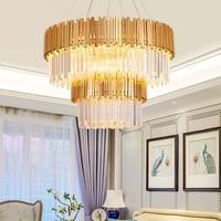 Современный хрустальная люстра светильник роскошные современные люстры кулон висит свет для дома Декор отеля Ресторан