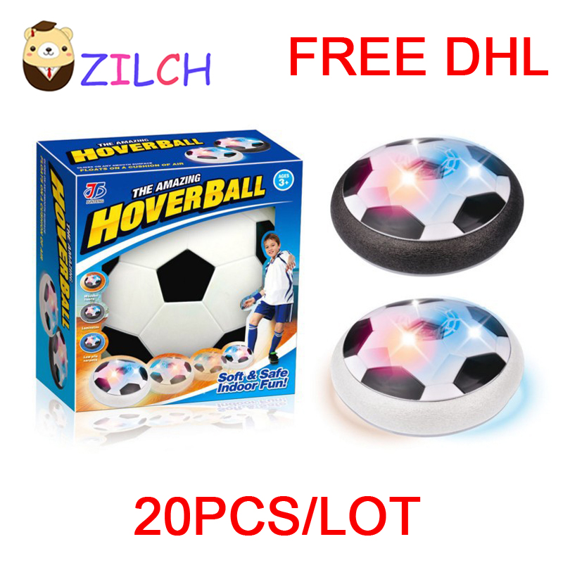 Free DHL Kids Air Power Soccer Football Sport Children Toys Training Football Indoor Outdoor Hover Ball Foam Bumpers LED Light