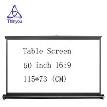 Thinyou font b Projector b font Screen 50 inch 16 9 Portable Manual Pull up Table