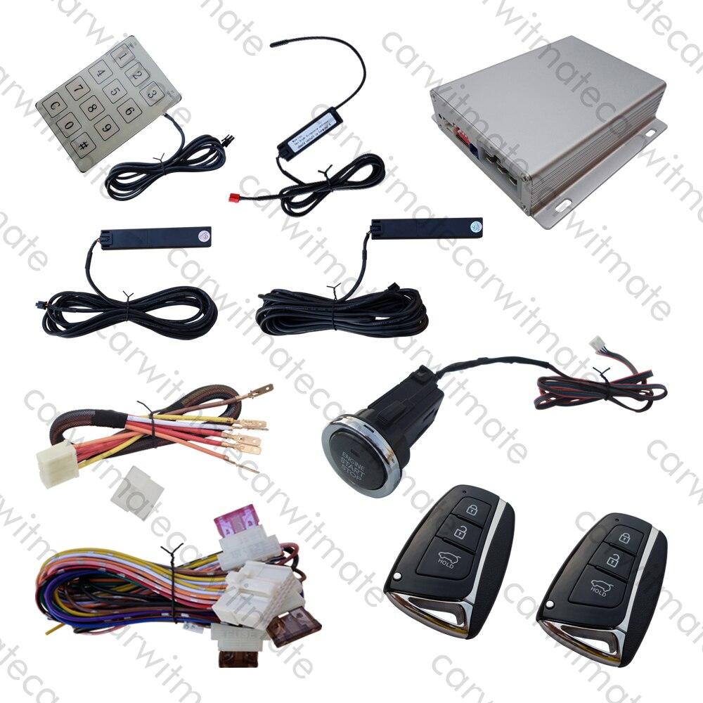 Clé intelligente RFID PKE système d'alarme de voiture Long bouton poussoir démarrage à distance arrêt moteur mot de passe entrée sans clé Code de roulement