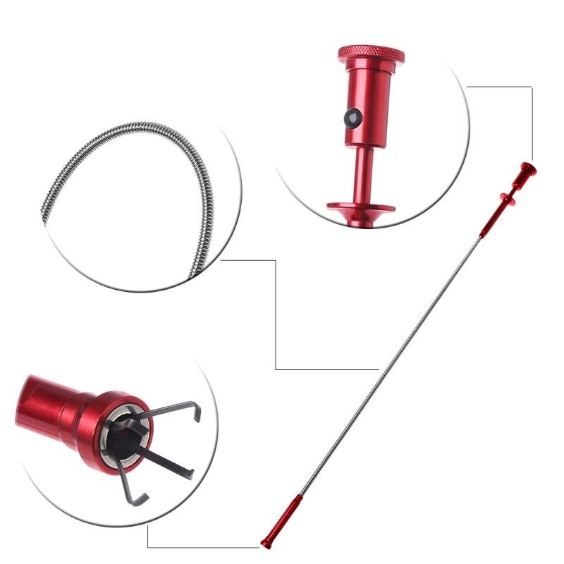 Flexible recoger herramienta imán 4 garra luz LED magnético larga primavera agarre casa Baño Gadget de limpieza de alcantarillado camioneta herramientas