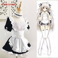 VEVEFHUANG Classic Lolita Maid Uniform Dress Sissy Maid Cosplay Costume Halloween Costumes Anime Cosplay Costume Maid Apron