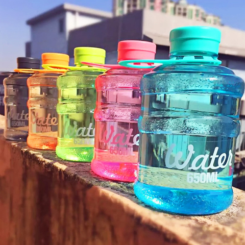 Mineral Water Bottle 650ml 2PCS/LOT Pure Water Bucket Camping Clear Outdoor Sports bpa Free Botella Plegable Drink Bottles Pakistan