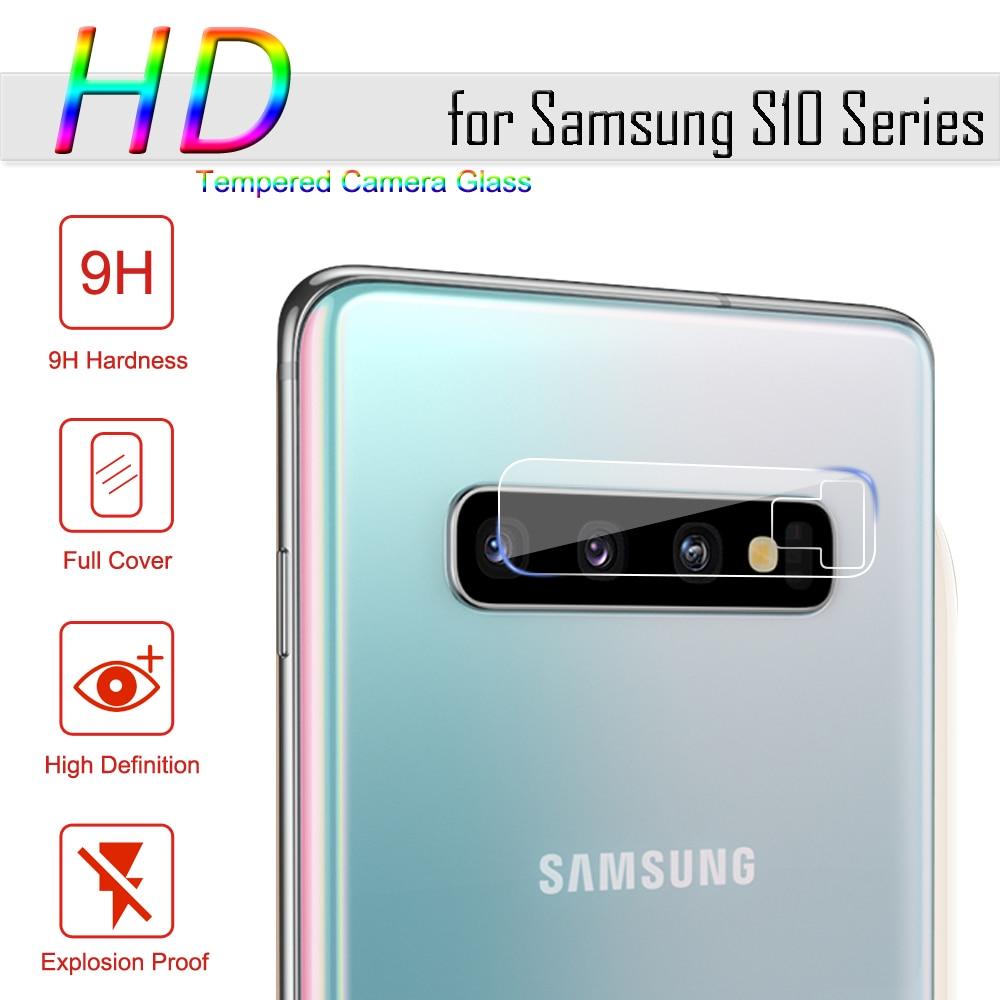Samsung Galaxy S10 Plus S10e S10 + A50用強化ガラスSamsung Note 10 Plus用ガラス保護カメラレンズガラスプロテクターアイホンwl 11