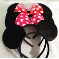 Minnie Mouse Party Headbands Children Boys Girls Headwear mickey Minnie Mouse Ears Kids Accessories Cosplay Christmas Gift