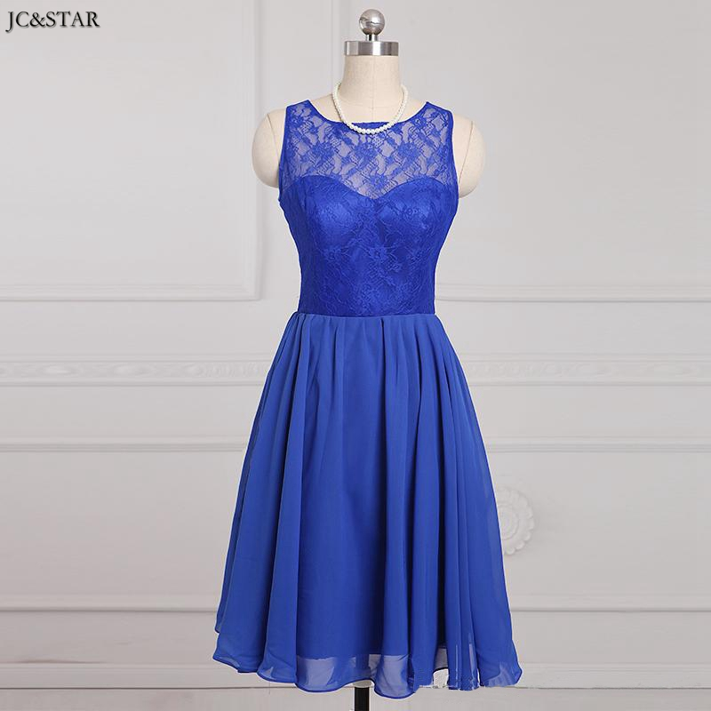 Jc star short purple turquoise bridesmaid dresses with for Royal blue short wedding dresses