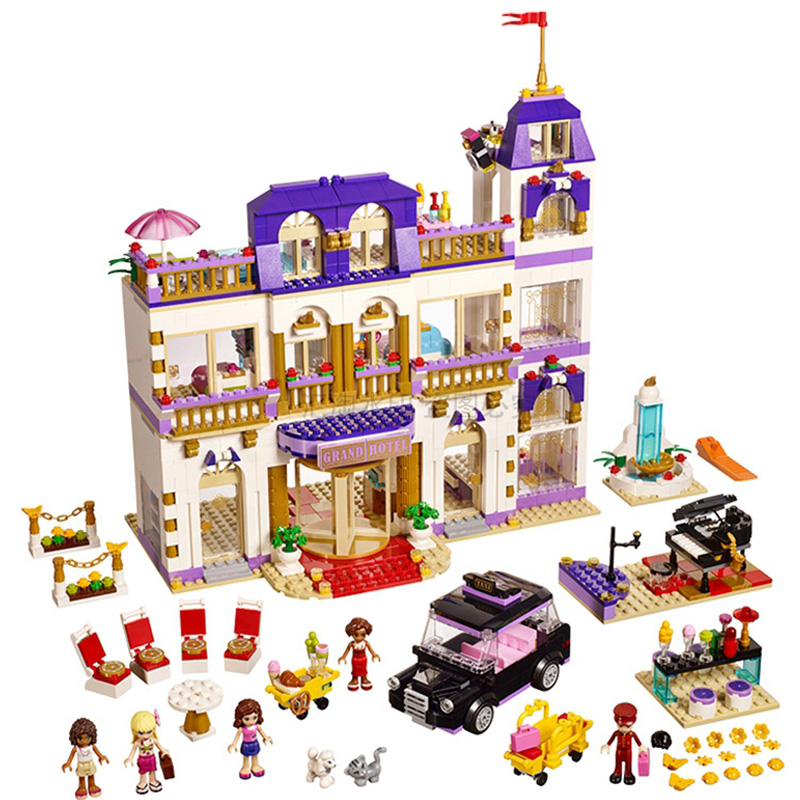 LEPIN 01045 Girls Series 1676pcs The Heartlake Grand Hotel Building Block set Brick Educational Toy For children 41101 Gift lepin 01045 new 1676pcs girls series the heartlake grand hotel set legoingys 41101 building blocks bricks toys as gift for kids