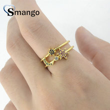 5Pieces,Women Fashion Jewelry,The Rainbow Series The Star and Moon Shape Rings,4Colors,Can Wholesale