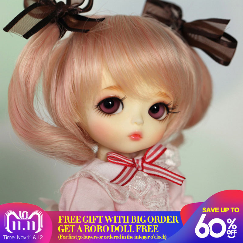 цена OUENEIFS Lati yellow hani 1/8 bjd sd doll resin figures body model baby girls boys dolls eyes High Quality toys free eyes