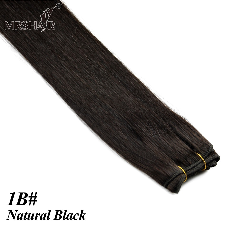 "1B# Natural Black Hair Products 1 Bundle Indian Hair Weaves 5A Remy Real Natural Human Hair Straight 100g 18"" ~ 24"""