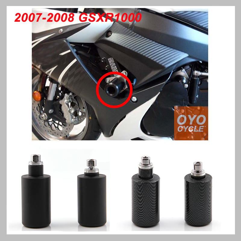 No Cut Frame Sliders Motorcycle Fairing Protectors For 2005 Suzuki GSXR 1000 GSX-R1000