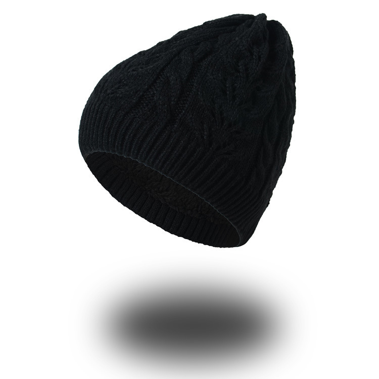 Winter Hats For Men  Men Beanies Knitted Hat Warm Bonnet Caps Baggy Brand Solid Thicken Fur Women Winter Hat Skullies Beanie [cosplacool]knitted letter skullies bonnet winter fleece beanies hat for men women hats warm baggy