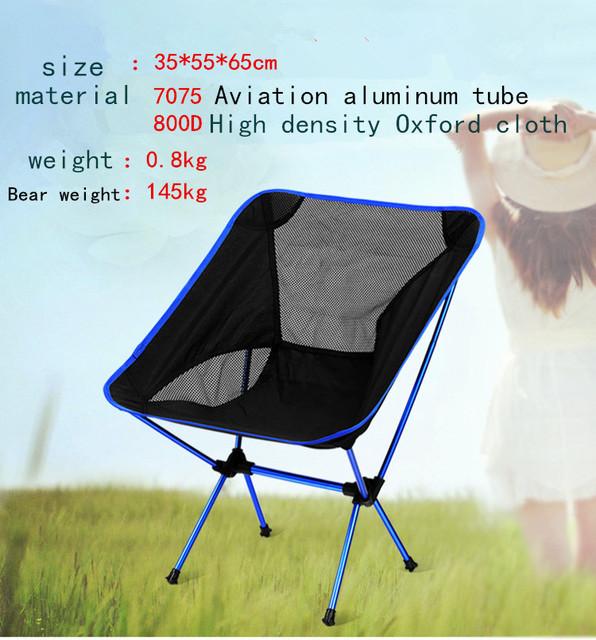 Cadeiras dobráveis cadeiras de praia portátil Folding Camping Stool cadeira Max carga rolamento 145 kg silla plegable