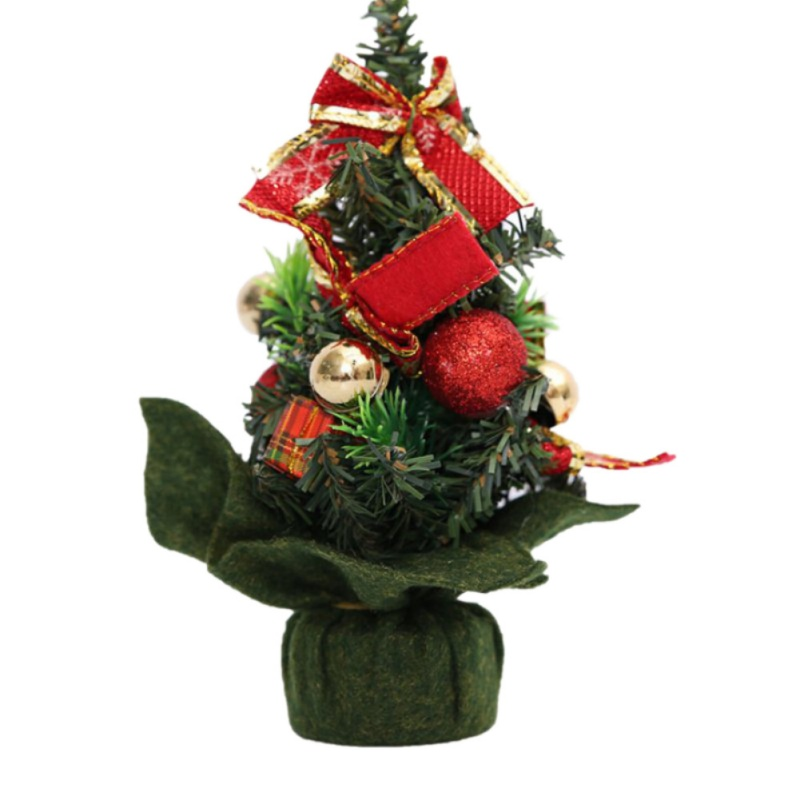 20cm Artificial Mini Christmas Small Tree With Jewelry House Festival Christmas Party Supplies image
