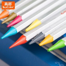Lápis de pintura para crianças, 36 cores/caixa sem madeira ecológica, não tóxico, colorido, chumbo, multicolor, desenho, arte, presentes