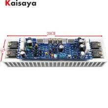 1 adet AB sınıfı L12 2 55 V 120 W Tek Kanallı Ses Güç Bitmiş Amplifikatör Kurulu Amp Soğutucu ile