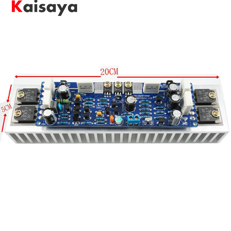 1pcs Class AB L12-2 55V 120W Single Channel Audio Power Finished Amplifier Board Amp With Heatsink