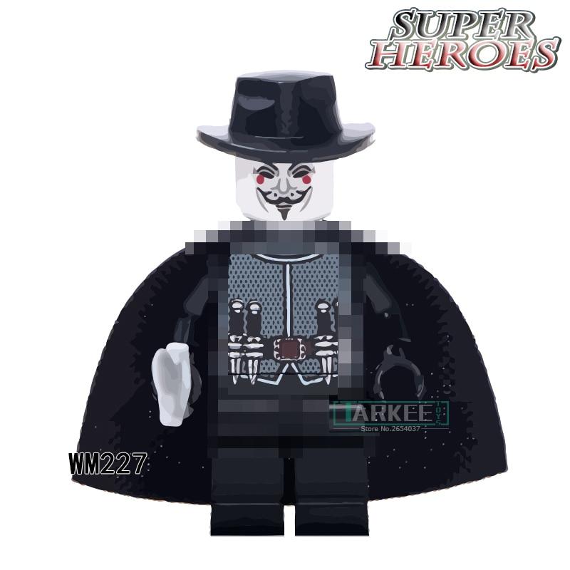 Building Blocks Smart Super Heroes Single Sale WM227 The Antiheroes Guy Fawkes Magic Teacher Children Gift Toys Action Figures