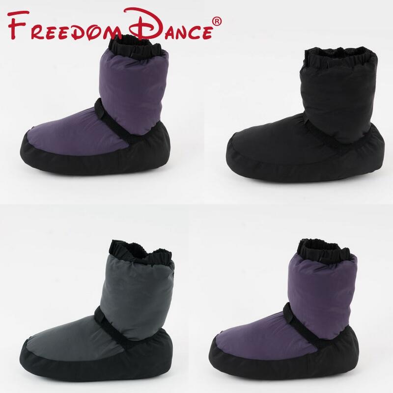 Женские балUPS етные Туфли-пуанты для занятий танцами, мягкие танцевальные сапоги, теплая обувь для защиты ног, домашняя обувь для танцев