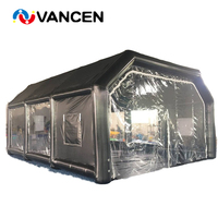 Airtight PVC tarpaulin 8*7m inflatable paint booth car garages durable car tent cabin booth for outdoor painting