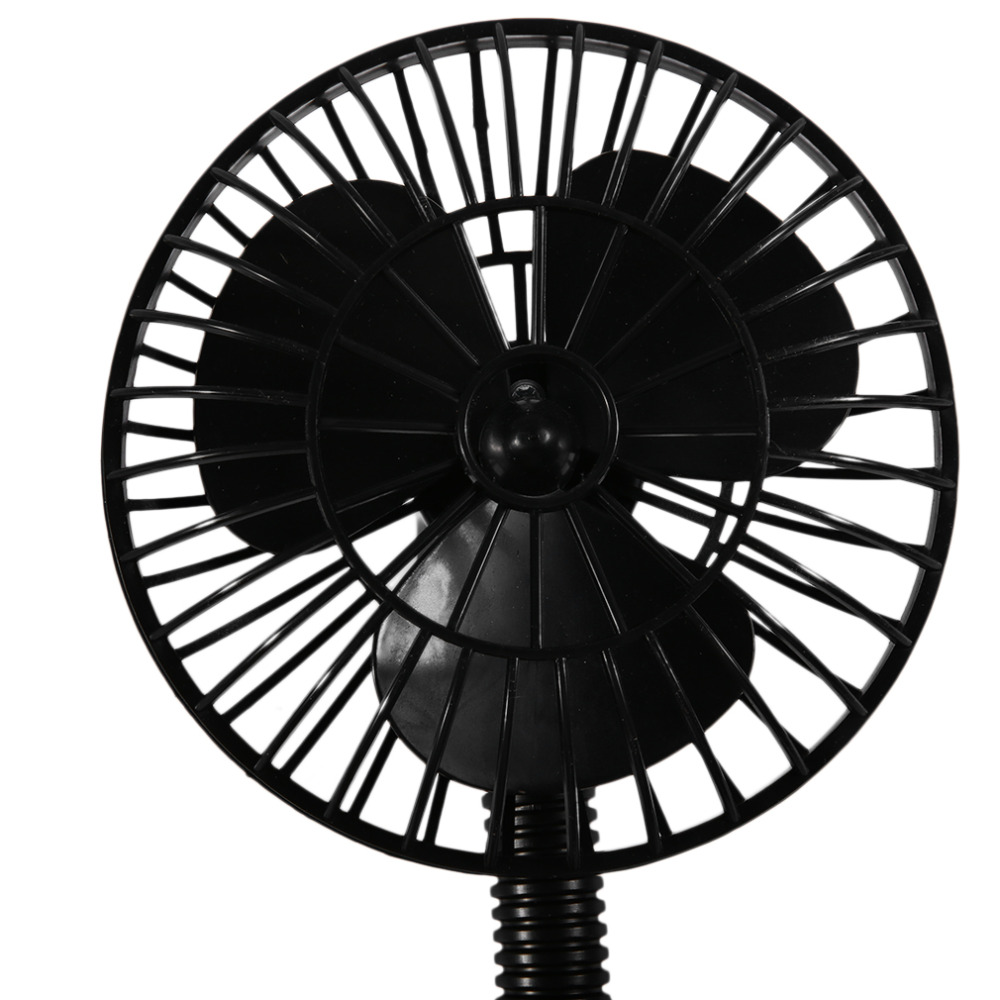 Mini electric car fan low noise car 360 degree rotating adjustable cooling summer supplies 2v 15w car vehicle fan in heating fans from automobiles